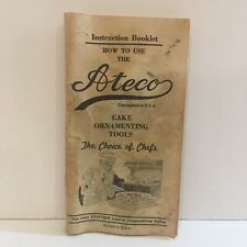 Ateco Chef's Cake Ornamenting Tools Vintage Booklet