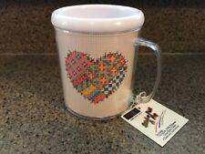 "MCG TEXTILES ""STITCH-A-MUG"" 14-Count AIDA Cross Stitch Mug Heart"