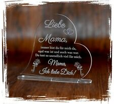 1 Aufsteller mit Gravur - Acrylglas - Textgravur zum Muttertag / Vatertag Liebe