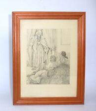Erotische Kunst Radierung um 1910 Erotika Erotica