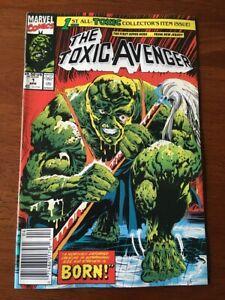 THE TOXIC AVENGER # 1 FINE/VF NEWSSTAND EDITION 1ST APP TROMA MARVEL COMICS 1991