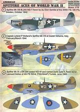 Print Scale Decals 1/72 SUPERMARINE SPITFIRE American Aces of WWII