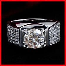 4.51 ct+D-h.Color vvs1 White Engagement .925 Sterling Silver Men'S Ring Size 9