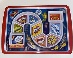 Fred Super Hero Action Dinner Winner Tray Children's Board Game Dinner Plate