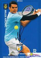 Milos Raonic 2015 Epoch IPTL Tennis Silver Foil Facsimile Signature #/20 MINT
