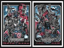 Avengers Guardians Of The Galaxy Screen Print Set Iaccarino Thanos Infinity War