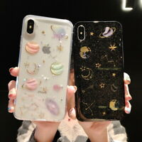 For iPhone 12 mini 12 Pro Max 11 XS Bling Cute Star Clear Case Soft Rubber Cover