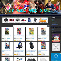 VIDEO GAME STORE: Fully Automated Home Based Online Business Website For Sale!