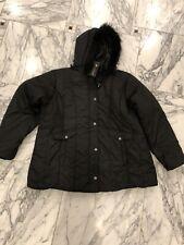 Women's Plus Feel Black coat- size 3XL