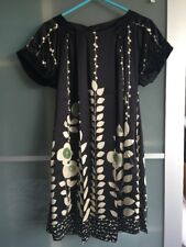Ladies Ted Baker Black And Gold Tunic Dress - Size 1 (UK 8)