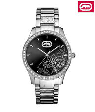 MARC ECKO LADIE'S SPECIAL CRYSTALS AND FLORAL DIAL WATCH E11597L1
