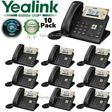10 Pack Bundle Lot Yealink SIP-T23G Professional Gigabit SIP VoIP IP Phone PoE