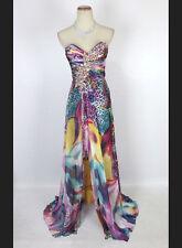 New  TONY BOWLS 112559 Authentic Leopard Print Wedding Evening Women Gown 4