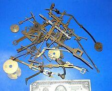 Lot of Vintage Clock Parts, Pendulum Parts, Wires - Repair - Steampunk