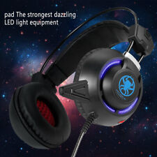 USB LED Game Light Headset For PC Notebook Computer Earphone w/ MIC & LED USA