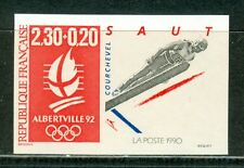 France Olympische Spiele Olympic Games 1992 Imperforated Ski Jumping MNH