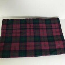 Vtg Ralph Lauren Red Green Plaid Flat Queen Sheet 100% cotton Made In USA