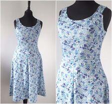 Vintage 1960s Floral Sundress RETRO Boho Chic Rockabilly 50s Style MOD Dress 6 8
