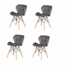 Pack 4 sillas de comedor Franela nórdico diseño sillas de acero de pierna 74cm