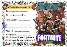 5 cartes invitation anniversaire  n°8   Jeu vidéo battle royale