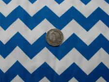 Quilting Patchwork Sewing Fabric Chevron Zigzag Blue White Material 50x55cmFQ...