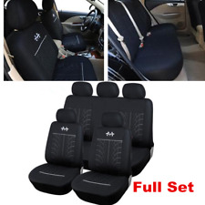 9pcs Black Full Set Front&Rear Car Seat Cover Protector For Interior Accessories
