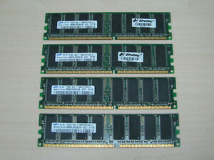 Samsung DDR1 1GB (4 X 256MB) PC3200 DDR-400 184pin M368L3223HUS TEST OK!