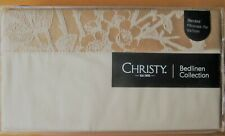 CHRISTY Standard Pillowcase PAIR Jacquard GYPSY FLORAL GOLD