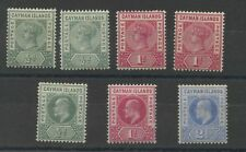 Cayman Islands Early collection 1900-1902 Mounted Mint. SG1-5