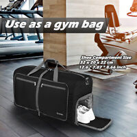 40L Foldable Sport Duffles Packable Carry On Travel Holdall Bag Sports Bag Gym
