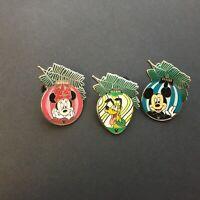 DLR - 2010 Hidden Mickey Series - Christmas Ornament - 3 Pins Disney Pin 75087