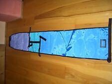 Skibag Skisack Retro ca.21o x33 cm- blau/lila/türkis/schwarz m.Namenfeld neu
