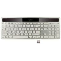 Logitech K750 White Wireless Solar Keyboard for Mac 920-003677-D - White/Silver