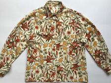 Camicia camicetta maglia blusa manica lunga vintage 40 42 floreale usato T847