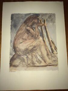 Émile-Antoine BOURDELLE: Sapho, reproduction à l' Aquarelle.1950