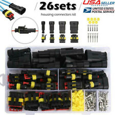 26 Sets Super Seal Auto Car Electrical Waterproof Connector Kit 1 2 3 4 Pin Way