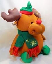 Christmas Gold Spandex MOOSE REINDEER D12