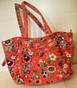 Vera Bradley Tote Bag - Colorful Floral  -  Orange