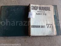 1977 HONDA MR175 Service Manual OEM