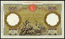 ITALY 100 LIRE CAPRANESI 1935 VF+ ROMAN EAGLE LARGE SIZE NOTE BEAUTIFUL BANKNOTE