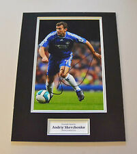 Andriy Shevchenko Signed 16x12 Photo Autograph Chelsea Memorabilia Display + COA