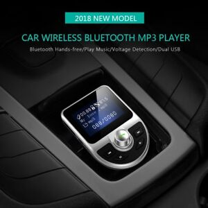 Car Bluetooth FM Transmitter MP3 Player Hands-free USB Charger LARGE DISPLAY