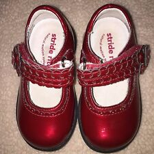 STRIDE RITE Princess Toddler Girl ADRIA Mary Janes Red Patent 4.5 M SHOES EUC