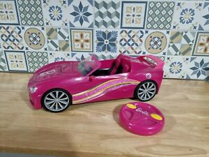Barbie RC Dream Convertible  Car - With Remote  NOT WORKING
