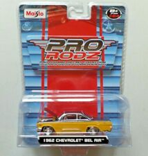 Maisto Pro Rodz Pro Touring Diecast '62 Chevrolet Bel Air Yellow Black NIP 1:64