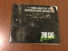 Vintage Arctic Cat Snowmobile 1985 Operator's Manual 2254-309