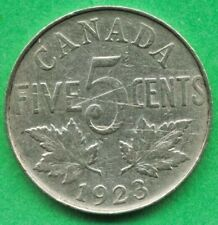 Lot E091 Canada 1923 5 Cents Nickel King George V  Canadian Coin