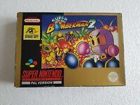 Super Bomberman 2 - Super Nintendo SNES game - [CIB PAL UKV] boxed with manual