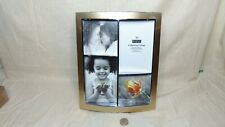 BURNES OF BOSTON 4 OPENING COLLAGE GOLD TONE 8X10 PHOTO PICTURE FRAME