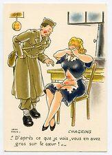 M. Barré & Dayez . JEAN PARIS . Charme militaire. Erotique. Erotic. CHAGRINS